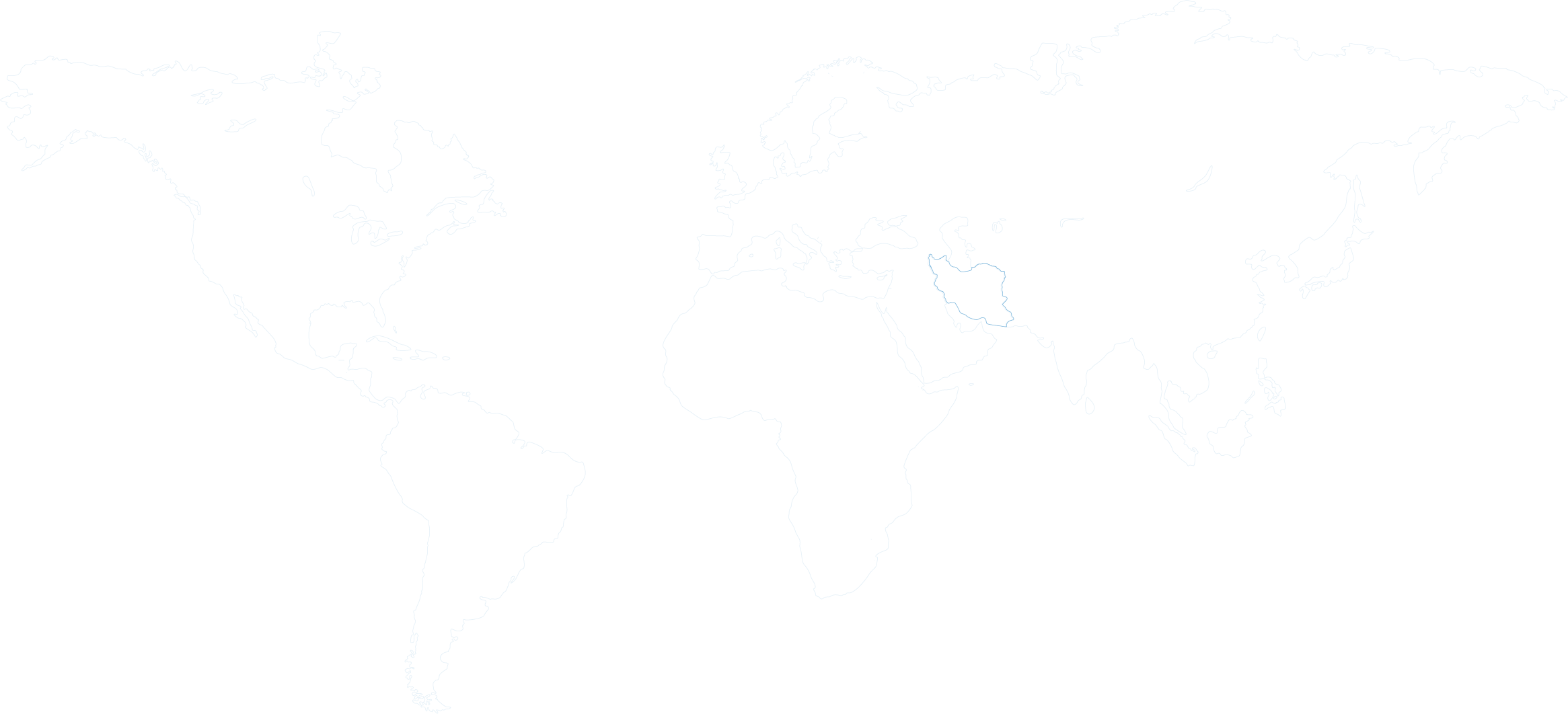 Iran in world map